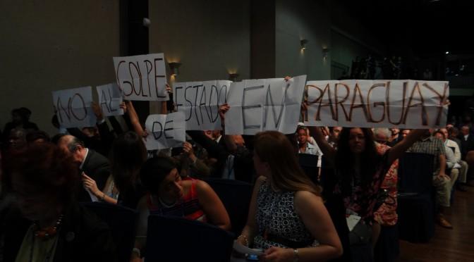 no al golpe de estado en paraguay