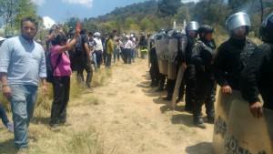 imágenes de la destrucción que hizo la policía en Xochicuatla