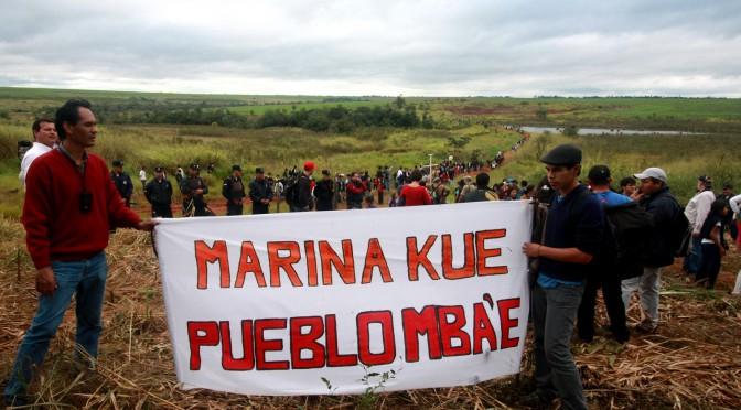 Acto de conmemoración del 15 de junio de 2013, a 1 año de la masacre en Marina kue - www.quepasoencuruguaty.org