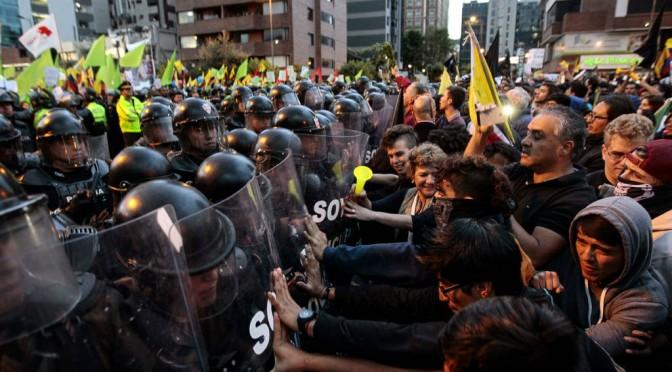 Apuntes ecuatorianos, observaciones sobre la represión contra la resistencia a los dictados del FMI